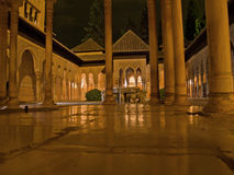 Alhambra at night Royalty Free Stock Photography