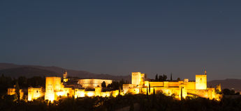 Alhambra by night Stock Image