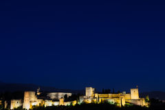 Alhambra by night Royalty Free Stock Photography