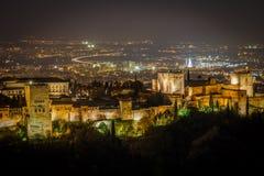 alhambra noc zdjęcie royalty free