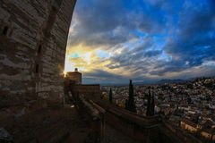 Alhambra och Albaizin Arkivfoton