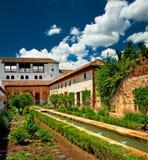 alhambra ogród Obrazy Stock