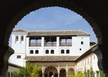 Alhambra: Pátio de la Acequia no Generalife Foto de Stock