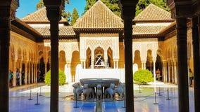 Alhambra på Granada Royaltyfri Foto