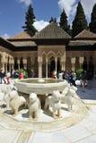 Alhambra, pałac lwy, Granada, Hiszpania Obraz Royalty Free
