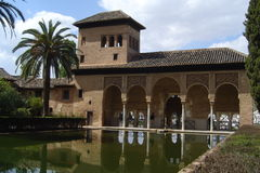 Alhambra Palace. Oriental palace in Alhambra, Spain Royalty Free Stock Image