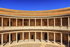 Alhambra Palace Carlos 5th Granada Andalusia Spain Stock Photography