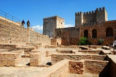 Alhambra Palace castle, Granada. Stock Images