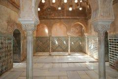 Alhambra Palace - château maure médiéval à Grenade, Andalousie, Espagne Photographie stock libre de droits
