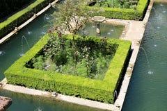 Alhambra Palace - château maure médiéval à Grenade, Andalousie, Espagne Photo stock