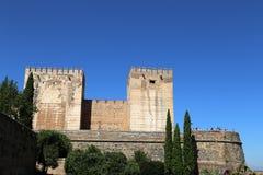 Alhambra Palace - château maure médiéval à Grenade, Andalousie, Espagne Photos stock