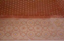 Alhambra Palace detaljer i Granada, Spanien Arkivfoton