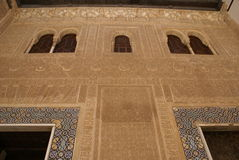 Alhambra Palace detaljer i Granada, Spanien Arkivbild