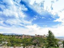 Alhambra Palace di Granada, Andalusia, Spagna Aprile 2015 Fotografie Stock Libere da Diritti