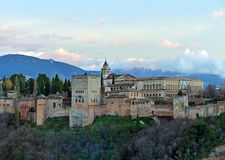 Alhambra Palace in the Evening Stock Photo