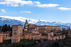 Alhambra palace. Famous Alhambra is a palace and fortress complex located in Granada, Andalusia, Spain Royalty Free Stock Images