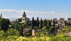 The Alhambra palace and fortress complex, Granada, Spain royalty free stock photo