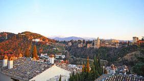Alhambra palace and Generalife gardens, Granada, Spain Stock Images