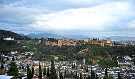 The Alhambra palace and Generalife , Granada, Spain Stock Image