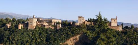 Alhambra Palace, Granada. Alhambra panorama seen from Albaicin district of Granada, Spain. (Super High Resolution Stock Photos