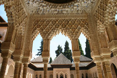 Alhambra palace in Granada, An. Details of Alhambra palace in Granada, Andalusia, Spain Royalty Free Stock Photos