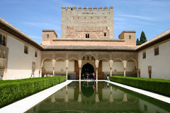 Alhambra palace in Granada, Andalusia Royalty Free Stock Photos