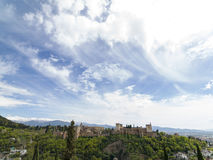 The Alhambra Palace of Granada, Andalusia, Spain. April 2015. Stock Photography