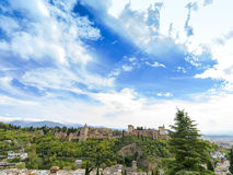 The Alhambra Palace of Granada, Andalusia, Spain. April 2015. Royalty Free Stock Photos
