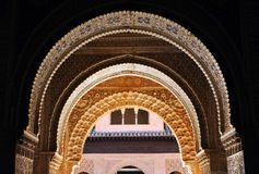 The Alhambra Palace in Granada, Andalusia, Spain stock photos