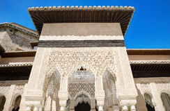 Alhambra palace, Granada, Andalusia, Spain. Detail of the famous Alhambra palace, Granada, Andalusia, Spain Royalty Free Stock Image