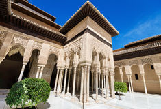 Alhambra palace, Granada, Andalusia, Spain. Royalty Free Stock Photos