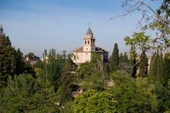 Alhambra Palace Granada, Andalusien, Spanien lizenzfreie stockfotos