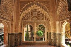 The Alhambra Palace in Granada, Daraxa gazebo, Andalusia, Spain. Arab art, the Daraxa gazebo (Mirador de Daraxa), Palace of Alhambra in Granada, Andalucia, Spain Stock Photo