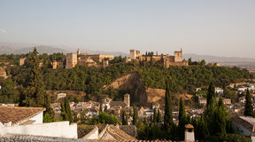 Alhambra palace with Granada in the foreground Stock Photo