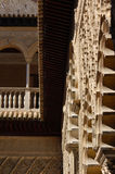 Alhambra Palace, Granada, Spagna: 8 aprile 2006: Gronda di legno Fotografia Stock Libera da Diritti