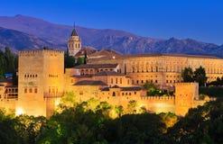 Alhambra palace, Granada, Spain stock photography
