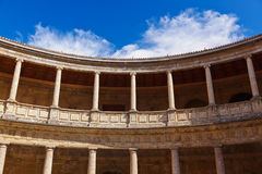Alhambra palace at Granada Spain Stock Photo