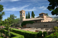 Alhambra palace in Granada, Spain Royalty Free Stock Photography
