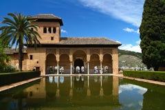 Alhambra palace at Granada Spain. Ancient arabic palace of Alhambra, Granada, Spain stock photography