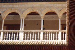 Alhambra Palace, Granada, Spain: April 8, 2006: Architectural details of Alhambra Palace Stock Photos