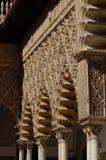 Alhambra Palace, Granada, Spain: April 8, 2006: A moorish style. Alhambra Palace, Granada, Spain: April 8, 2006: Many details of arches in moorish style at Stock Photo