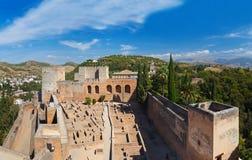 Alhambra palace at Granada Spain Stock Images