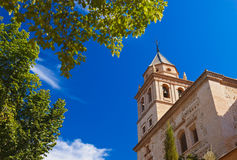 Alhambra palace at Granada Spain. Architecture and nature background Stock Image