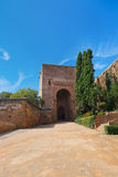 Alhambra palace at Granada Spain. Architecture and nature background Royalty Free Stock Photo