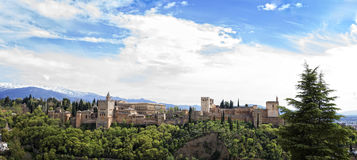 Alhambra Palace in Granada, Spain 2015 Royalty Free Stock Photo