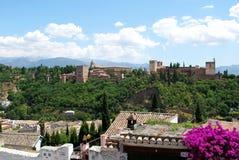 Alhambra Palace, Granada. Stock Photos