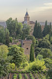 Hidden palace, alhambra, spain.. Image taken from the Generalife gardens within the Alhambra,  a UNESCO World Heritage Site, Granada, Spain Royalty Free Stock Photography