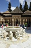 Alhambra, Palace of Lions, Granada, Spain Royalty Free Stock Image