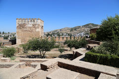 Alhambra Palace - medieval moorish castle in Granada, Andalusia, Spain Royalty Free Stock Photography