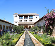 Alhambra Palace - medieval moorish castle in Granada, Andalusia, Spain Stock Photography